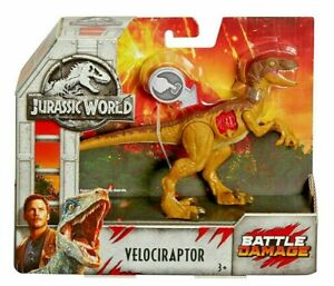 Jurassic Park World VELOCIRAPTOR Battle Damage Dinosaur Figure Toy