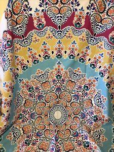 "The  Boho Boutique Bohemian Paisley Shower Curtain 72"" Wide X 72"" Length NEW"