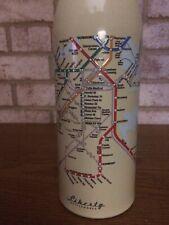 LIBERTY BOTTLEWORKS Aluminum Water Bottle 24 oz. BOSTON Transit System Map MBTA