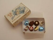 Dolls house food:1/12th Handmade box of assorted blue french chocolates -By Fran