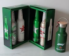 Heineken Aluminum Bottle Box Set Episodes EMPTY Beer & Drinking Bottle (Bicycle)