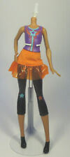 Barbie Video Game Hero Friend MultiColored Hair Doll Body Fabric Skirt Mattel