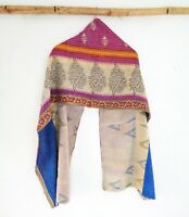 Cotton Kantha Scarf Head Wrap Stole Dupatta Hand Quilted beauty headband SM54