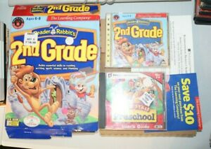 Reader Rabbit 2nd Grade BIG BOX PC CD learn to read write game! with jumpstart