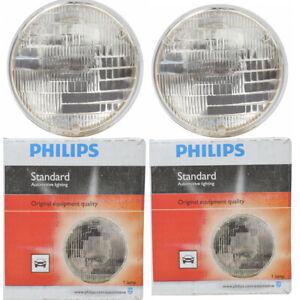 2 pc Philips Low Beam Headlight Bulbs for Mercedes-Benz 230S 250S 250SE qa