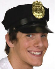 ADULT NAVY BLUE POLICE POLICEMAN COP OFFICER PATROL SECURITY COSTUME HAT CAP