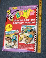 Walt Disney Get Goofy Double Pop-Out Watercolor Paint by Number New in Box