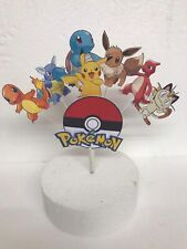 Pokemon, Pikachu,Meowth etc Birthday cake topper display (Unofficial)