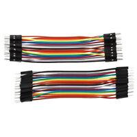 400Pcs Jumper Cable BreadBoard fil electronique Essai Solderless pour Arduino Wi
