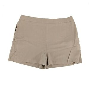 Leith Women's Plus Size 3X Tan Khaki Shorts w/ Pockets Side Zip