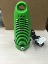 Chillout Mini Tower Fan 2 Speed Portable Desktop Green                     A15