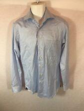 Men's Eric Sana Blue Button Down Long Sleeve Dress Shirt Sz 15