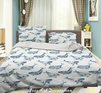 3D Blue Ocean Whale Quilt Cover Sets Pillowcases Duvet Comforter Cover