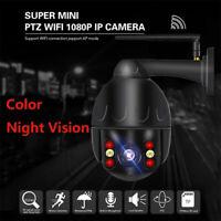 Wireless WiFi IP Security Camera 1080P HD PTZ Outdoor CCTV Auto Focus 4X Zoom