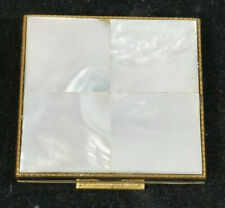 New listing Vintage Shields Powder Compact Mother of Pearl Mop Mirror