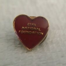 "BPOE Elks Club Lodge National Foundation Red Heart Gold Tone Pin Pinback ""K"""