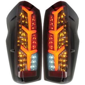 Tail Lamp Rear Light Smoke Black LED For Isuzu D-max Dmax Pickup UTE 2020-2021