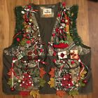 Men's 2XL Lighted Lit Christmas Realtree Camo Hunting Vest NWT Ugly Sweater Item