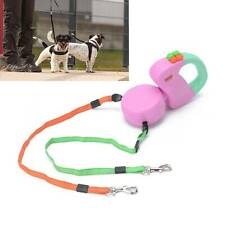 Automatic Double Dual Retractable Dog Pet Lead Leash 3M for Small Medium Dogs