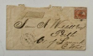 See Photos 1859 5c BeaverMisperf RedSeal Kincardine to Perth Lanark County CWest