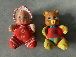 Vintage - Lewis Galoob - So Small Babies Mini Beanie Dolls - 1989