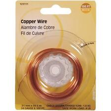 100 Pk Hillman 24 Ga X 100' Copper General-Purpose Wire 123111