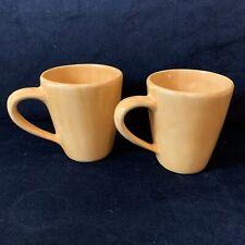 POTTERY BARN 16oz Mug 'Sausalito' Light Tan Cream Yellow Cup 2