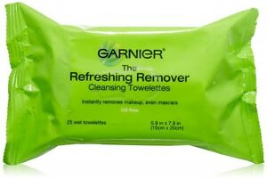 2x Garnier The Refreshing Remover Cleansing Towelettes Facial Wipe 25ct Oil Free
