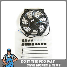 """New 10"""" Inch Universal Slim Fan Kit for Radiator Cooling Push or Pull 3670 6370"""