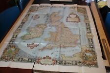 1937 Historical Map Of England , National Geographic Society