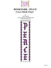 BOOKMARK - PEACE - Cross Stitch Chart
