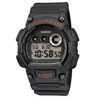 Casio Men's Super Illuminator Quartz Digital Gray Resin 47mm Watch W735H-8AV