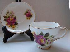 Vintage Merrie England Bone China England Floral Tea Cup & Saucer