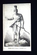 Arunte, statua in marmo di Guarnerio Pietro Incisione del 1875