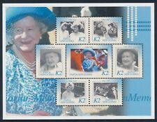 2002 PAPUA NEW GUINEA QUEEN MOTHER MEMORIAL SHEETLET FINE MINT MNH