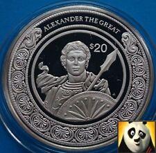 1997 Liberia $20 dólares mundos conquistador Alejandro magno moneda de plata prueba