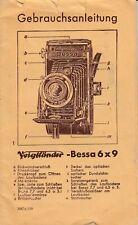 PDF Voigtländer Bessa 6x9 Kamera Gebrauchsanleitung Manual