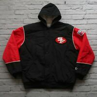 Vintage 90s San Francisco 49ers Parka Jacket by Starter Size L Made in USA Rare