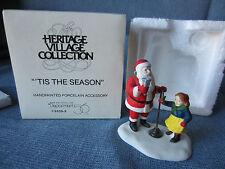 "Department 56 Heritage Village Original Box ""'tis the season""  Santa Christmas"