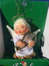 "ANNALEE Ornament Rare ANGEL Christmas Goose CHERUB Halo Harp  Doll 3"" ▬ 2011 ❤️"