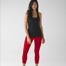 """NWT Lululemon Pace Rival Crop 22"""" True Red SIZE 6"""