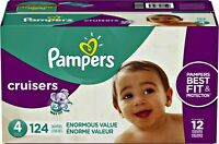 New Cruisers Diapers , Size 4, 124 Count