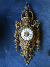 Antique French Vincenti & Cie Gothic Style Wall Clock