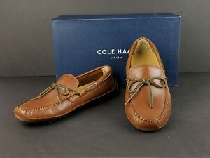 Cole Haan Grant Canoe Camp Moccasins Papaya Men's Leather Dress Shoes sz 9.5M