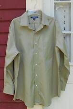 Croft & Barrow Non-Iron Green Marled Long Sleeve Button Shirt Sz 17 1/2 - 32/33