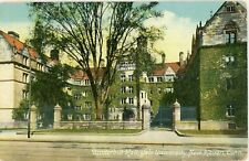 "NEW HAVEN CONNECTICUT CT ""YALE UNIV VANDERBILT HALL""DIVIDED POSTCARD 1917 CANCEL"