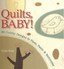 QUILTS BABY! 20 DESIGNS PIECE PATCH EMBROIDER LINDA KOPP MONKEY DOG SEAHORSE FLY
