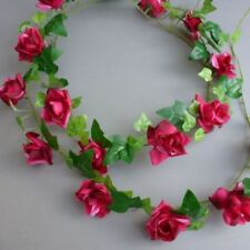 Artificial Mini Ivy & Mini Red Roses Garland Wedding/Festival Decoration