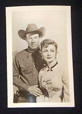 Bill Elliott & Virginia Grey 1940's 1950's Actor's Penny Arcade Photo Card