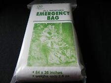 1 - Silver All Weather Emergency Bag (Sleeping Bag)-Prevents Hypothermia - 2.6oz